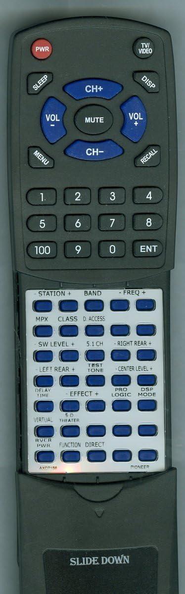 VSXD457 CUVSX126 Replacement Remote Control for Pioneer HTP302 AXD7156