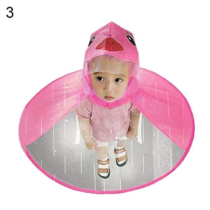 Kids Rain shoes /& Rain Hat Foldable Cartoon Duck Raincoat Umbrella Cape Flowery