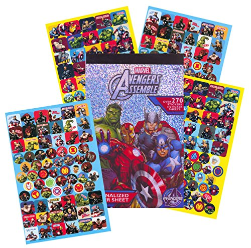 (Marvel Avengers Stickers ~ 270+ Stickers ~ Captain America, Thor, The Hulk, Iron Man, and More!)