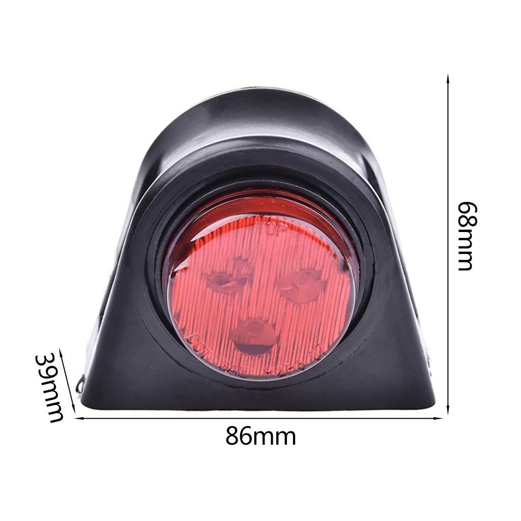 Luce Bianca e Rossa LIUXIA luci di Posizione Laterali a 8 LED Compatibile con rimorchi da 10-30 V