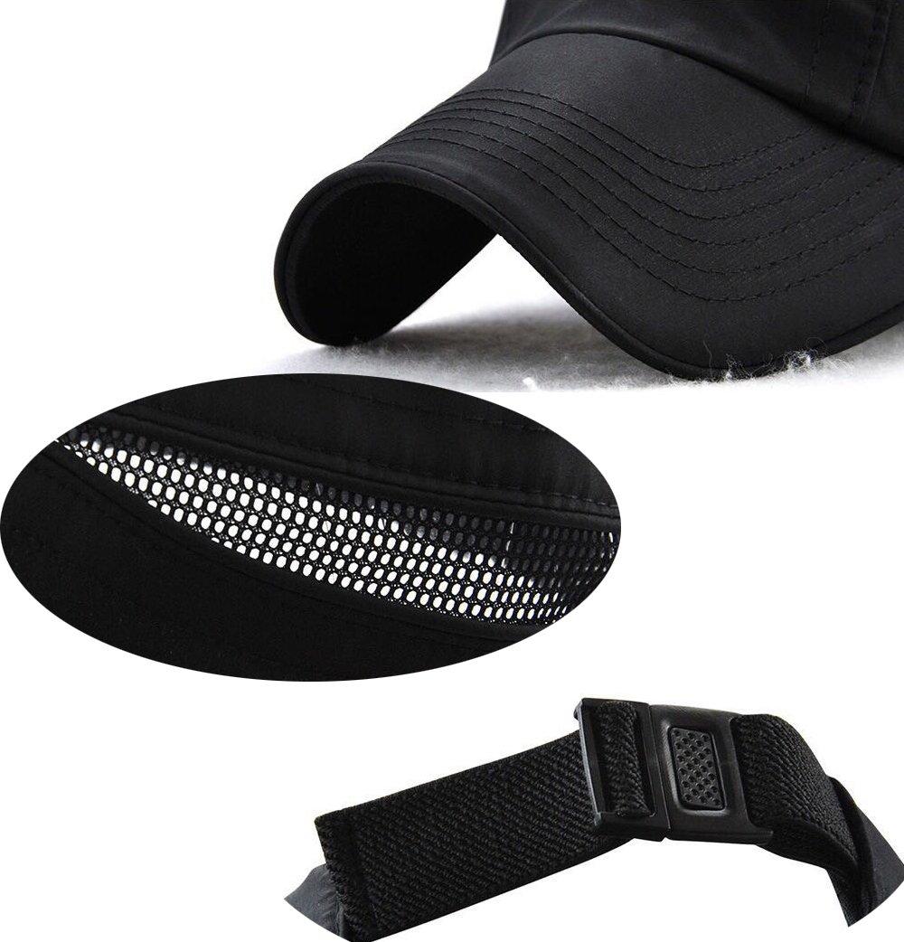 FENGFA Mens Baseball Caps Adjustable Quick Drying Hat Basic Cap Outdoor Sport Running Cap