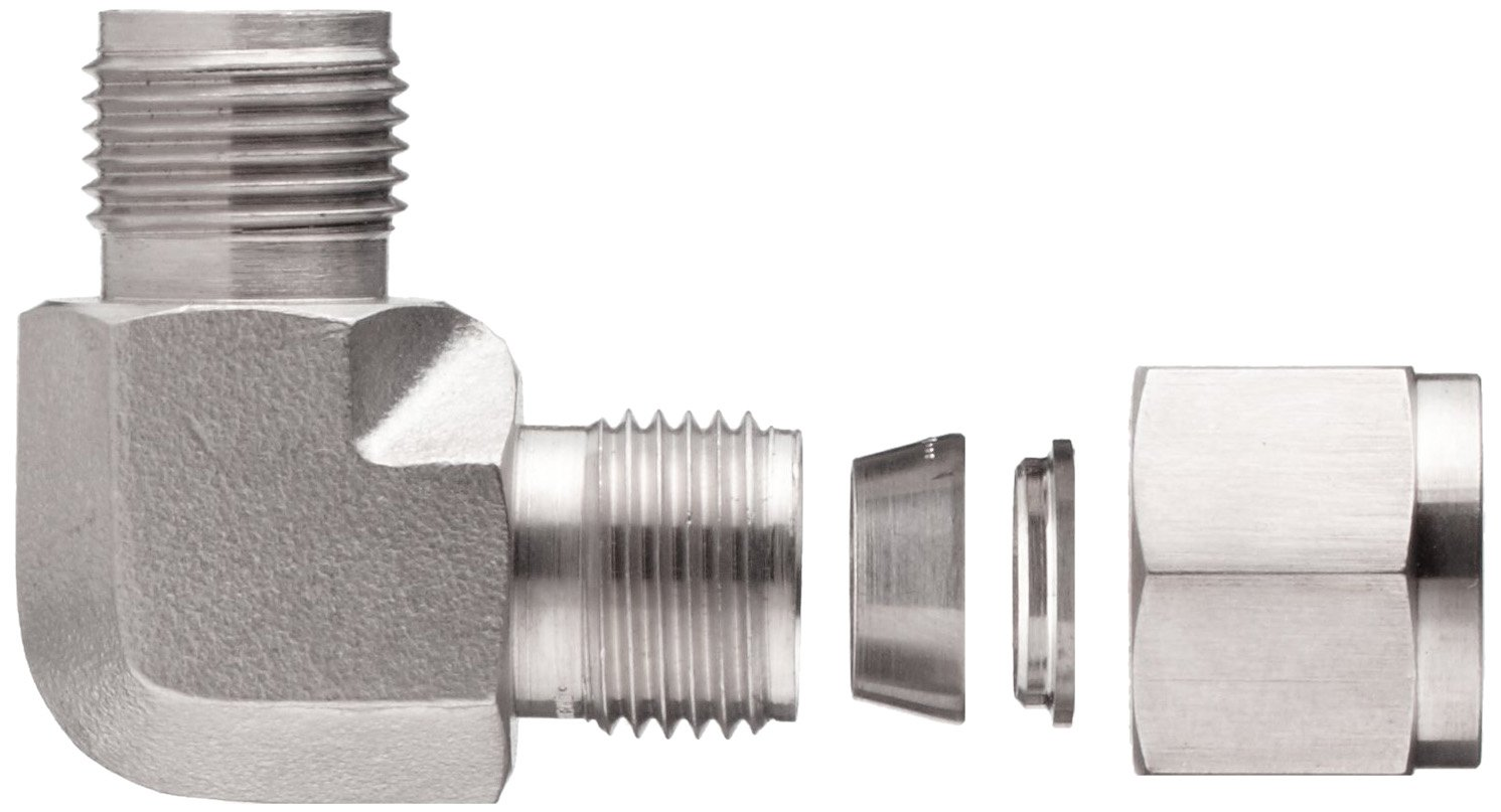 Brennan N2500-08-08-SS Stainless Steel Compression Tube Fitting 1//2 Tube OD 90 Degree Elbow