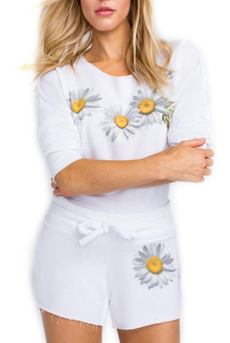 Wildfox Fresh As A Daisy 5AM Sweatshirt - Clean White - M