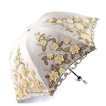 26c6bd67d Image Unavailable. DSWDA Women's Parasol Sun Protection Folding Umbrella UV  Cut Shading Heat Insulation ...