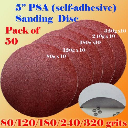 pack-of-50-5-psa-self-adhesive-80-120-180-240-320-grit-sanding-disc-stick-on-sandpaper-peel-air-sand