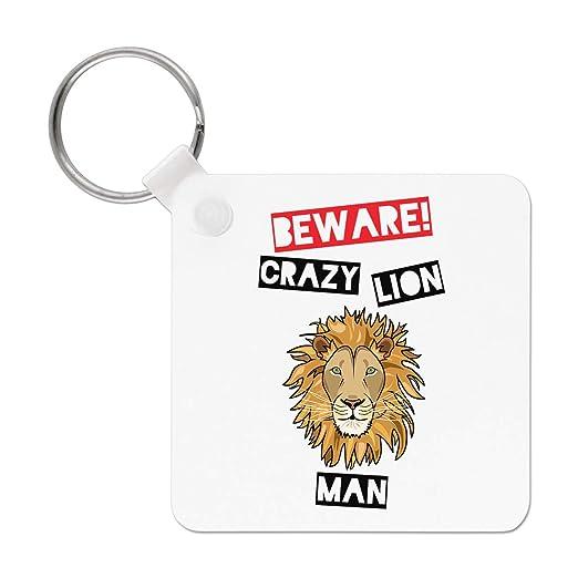 Gift Base Beware Crazy León Muñeco Llavero: Amazon.es: Hogar