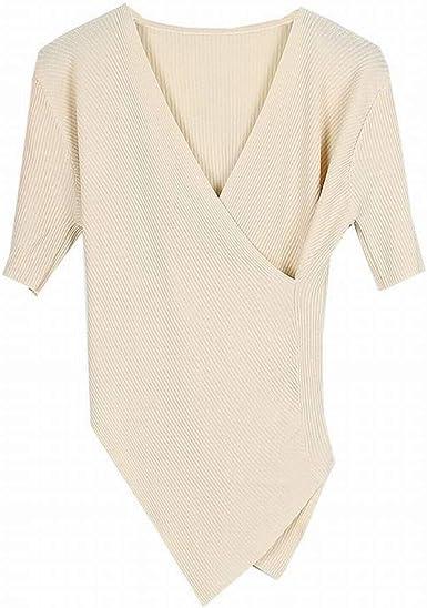Good dress Jersey de Manga Corta con Cuello en Pico Cruzado ...