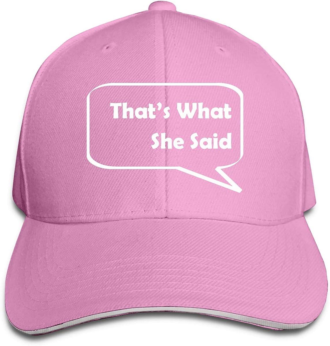 Thats What She Said Unisex Adult Baseball Caps Adjustable Sandwich Caps Jeans Caps Adjustable Denim Trucker Cap