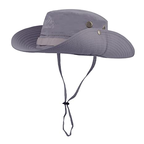0a033f09a95e8 Vadventure Mens Outdoor Waterproof Fishing Hat Wide Brim UV Protection  Summer Safari Boonie Hats Sun Cap