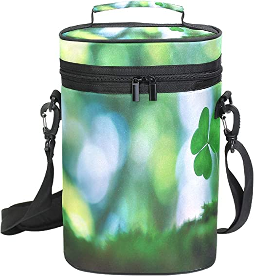 Insulated Wine Tote Bag Travel Camping Drink Lunch Cooler Carrier with Strap