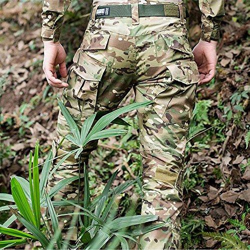 H Welt EU Pantalon militaire pour homme, pantalon avec genouillères pour jeux de stratégie, airsoft, paintball, tir… 4