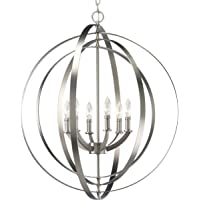 Deals on Progress Lighting Equinox 6-Light Transitional Globe Chandelier