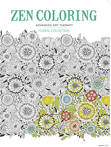 Zen Coloring - Floral Collection (Zen Coloring Advanced Art (Advanced Color Therapy)