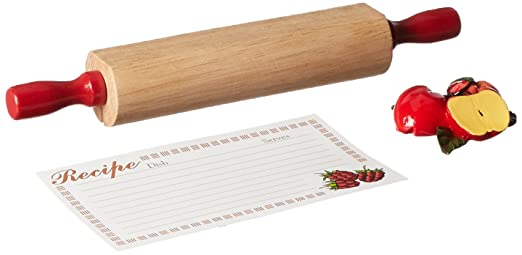 Mountain Woods 3 Piece Rolling Pin Recipe Card Holder Set