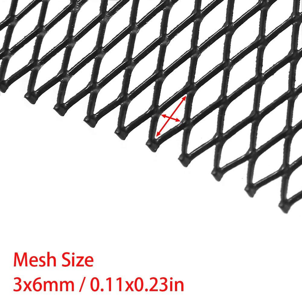 PoeHXtyy Aluminum Alloy Car Grille Mesh 40 x 13inches Car Grille Mesh Sheet Rhombic Grill Mesh Hole