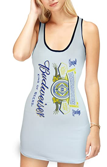 cd20ff85f5457 Amazon.com  Budweiser Junior s Vertical Label Tank Top (Large)  Clothing