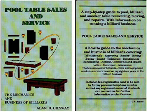 Pool Table Sales And Service The Mechanics And Business Of - Pool table sales and service