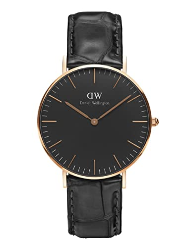 Daniel Wellington Reloj Análogo clásico para Unisex de Cuarzo con Correa en Cuero DW00100141: Amazon.es: Relojes