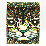 Macoku Colorful Painting Animal Pattern Wallet Leather Cover with Credit Card ID Holders Flip Cute Cover Case Tools Bags Wallet Pouch Cover Skin Cell Phone for Apple iPad 2/3/4 , Come with