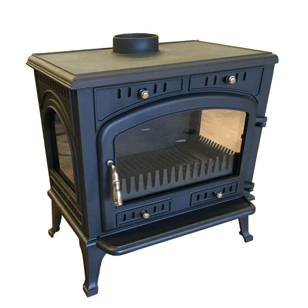 XLOO High-Efficiency Wood Stove,Pleasant Hearth,Wood Burning Stove,Three-Sided high Temperature Resistant Glass, Thick cast Iron, 160 KG, Suitable for Indoor Heating, Decoration by XLOO