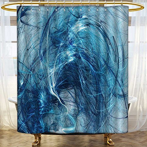 (Mikihome Shower Curtains Waterproof Colour Backdrop Wallpaper on White Background Fabric Bathroom Decor Set with Hooks W84 x H72 inch)