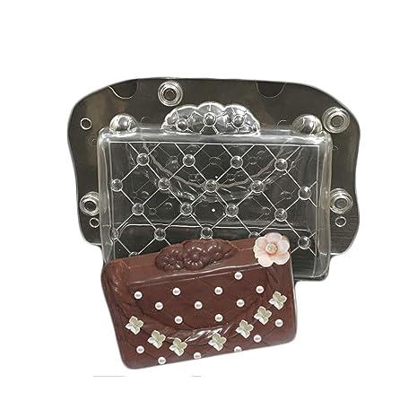 3d Lady bolso de con forma de Chocolate molde de plástico de policarbonato Chocolate Cake Molde
