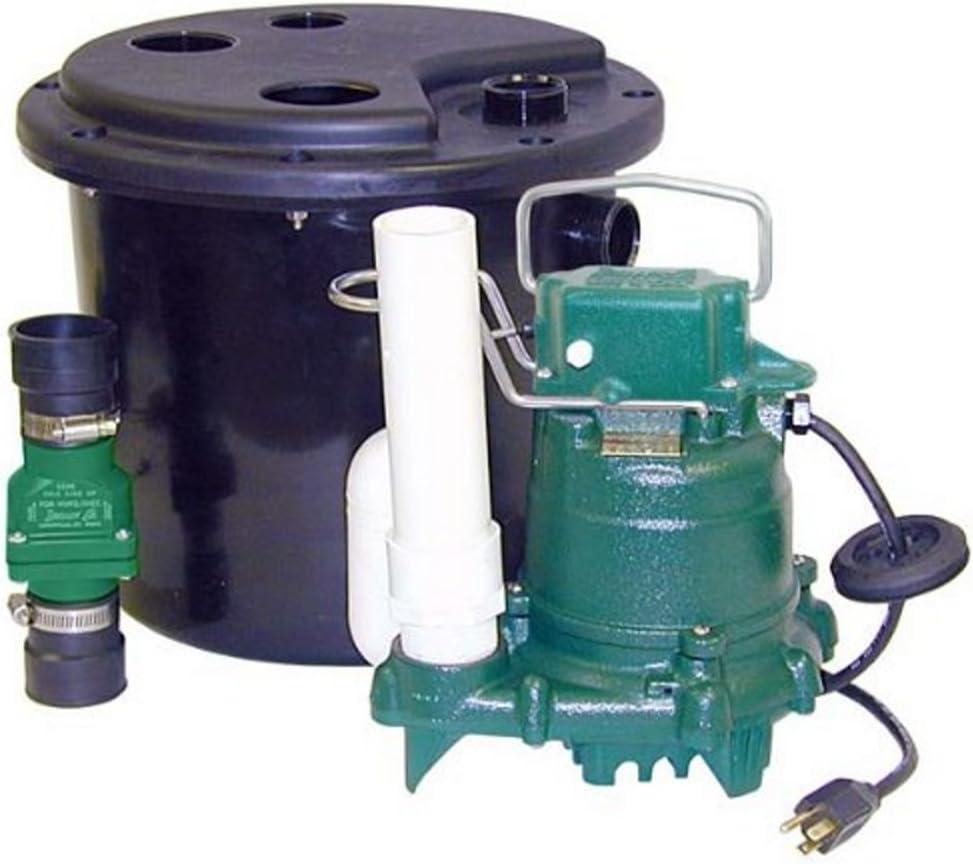 B0009TCDZ2 Zoeller 105-0001 Sump Pump, 12.50 x 14.50 x 14.50 inches, 19 Pound 61F2Bpt2Bd0mL.SL1280_