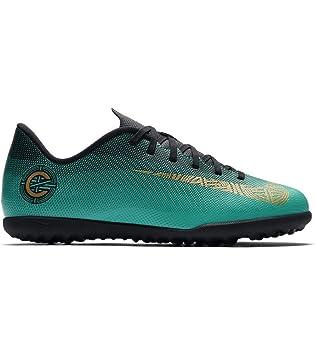 503298caa46 Nike Jr VaporX 12 Club GS CR7 TF Astro Turf Trainers - ClearJade ...