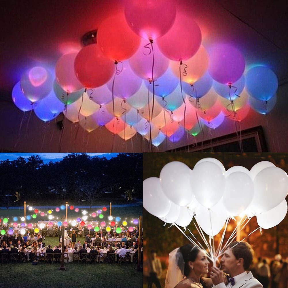 LEDバルーン 50個パック ライトアップバルーン パーティーデコレーション 結婚式 誕生日   B07PFVJPV4