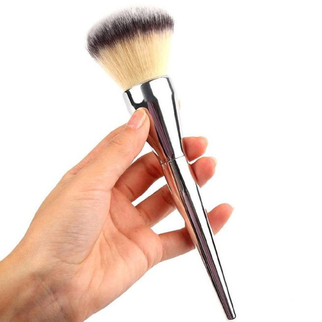 Kingfansion Makeup Cosmetic Brushes Kabuki Face Blush Brush Powder Foundation Tool