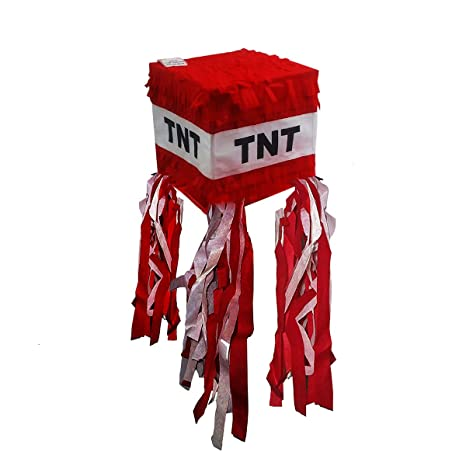 amazon com pinatas tnt for minecraft party red toys games