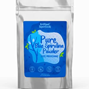 Blue Spirulina Powder - 100% Pure Superfood Supplement - Brilliant Blue Natural Food Coloring - Pure Water Extracted - Ellies Best