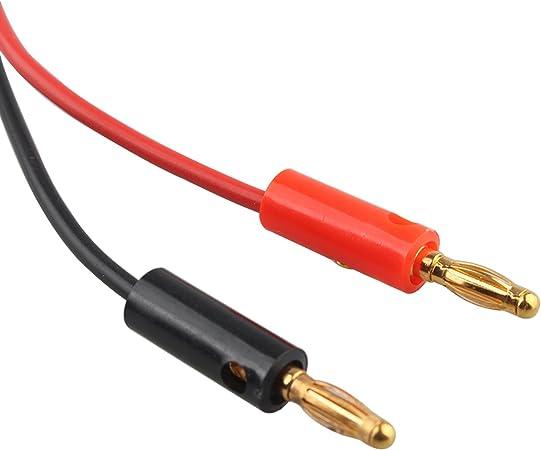 2/pz 4/mm spina a banana connettore jack a test gancio molletta sonda cavo 100/cm//101,6/cm multimetro