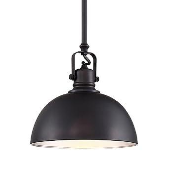 Elegant Revel Belle 9u0026quot; Industrial Adjustable Bronze Pendant Light, Oil Rubbed  Bronze Finish