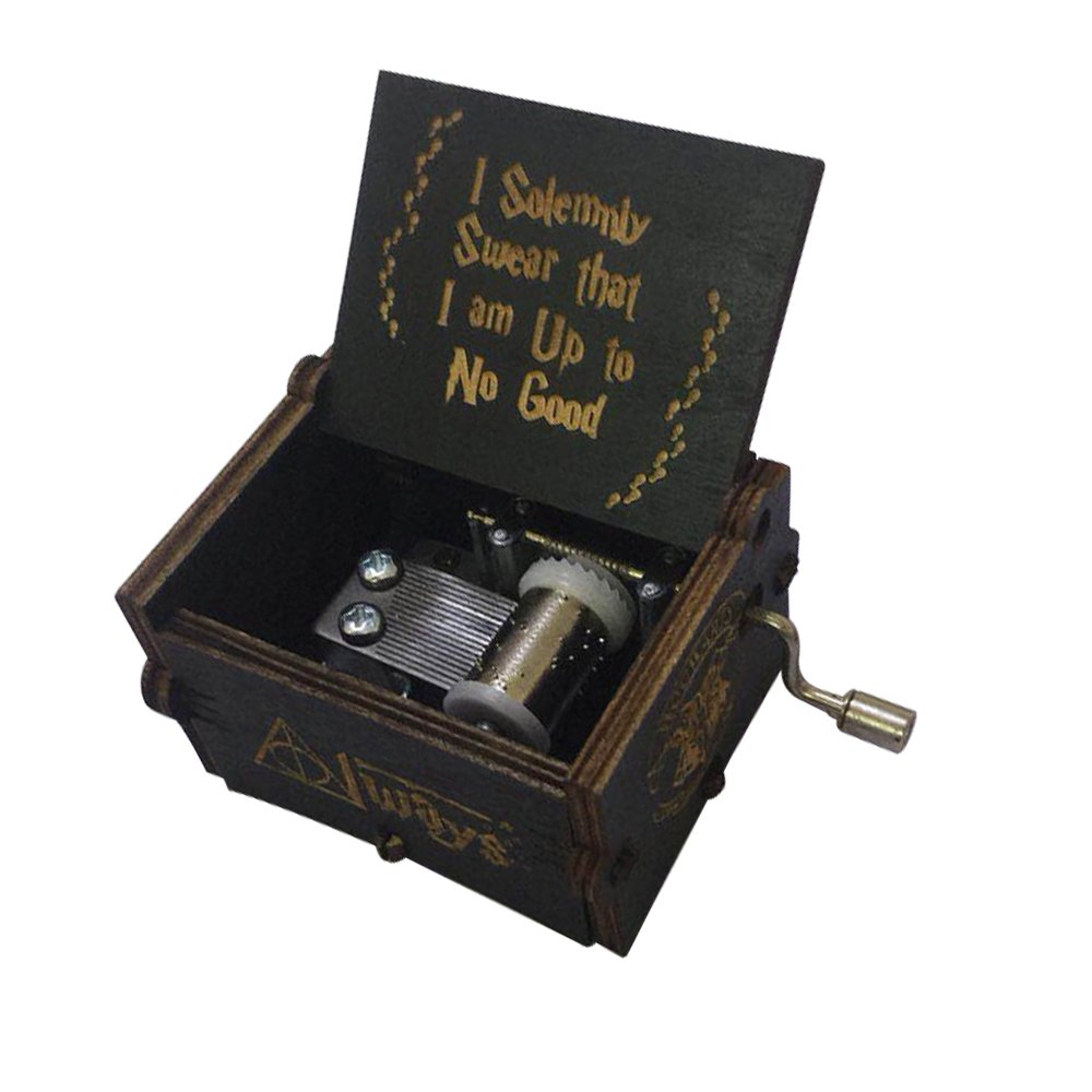 YouTang Harry Potter Music Box della manovella carillon in legno intagliato, Play The Thame Song of Harry Potter Brown Shenzhen Youtang Trade Co. Ltd HLBT-brown