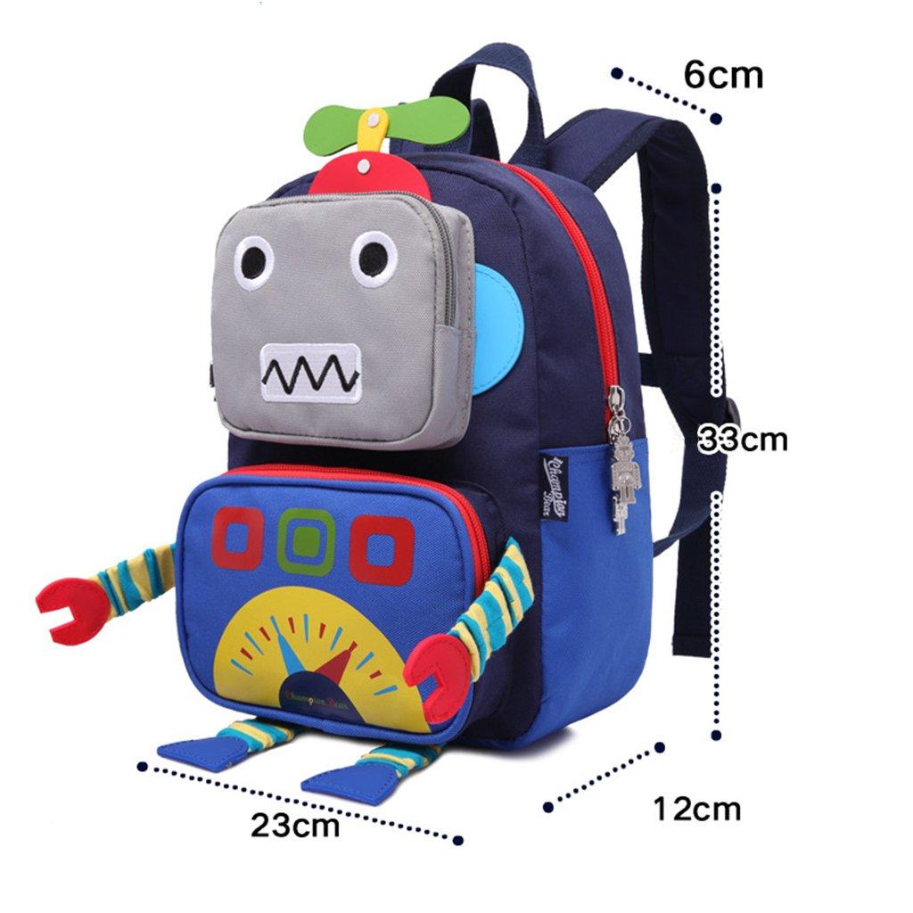 3D Cartoon Robot Children Backpacks Kids Kindergarten Cute School Bags Travel Backpack Outdoor Casual Daypack Kids Backpack