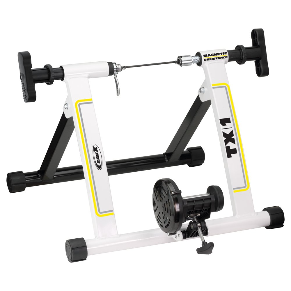 RavX TX1 Indoor Bike Trainer, Black/White