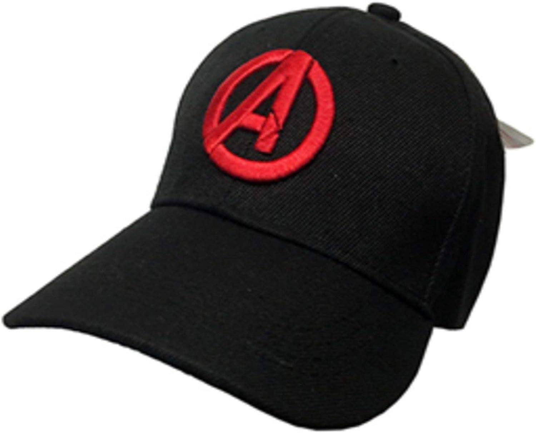 Marvel Avenger Age of Ultron Logo Adjustable Hat Cap Official Licensed Black