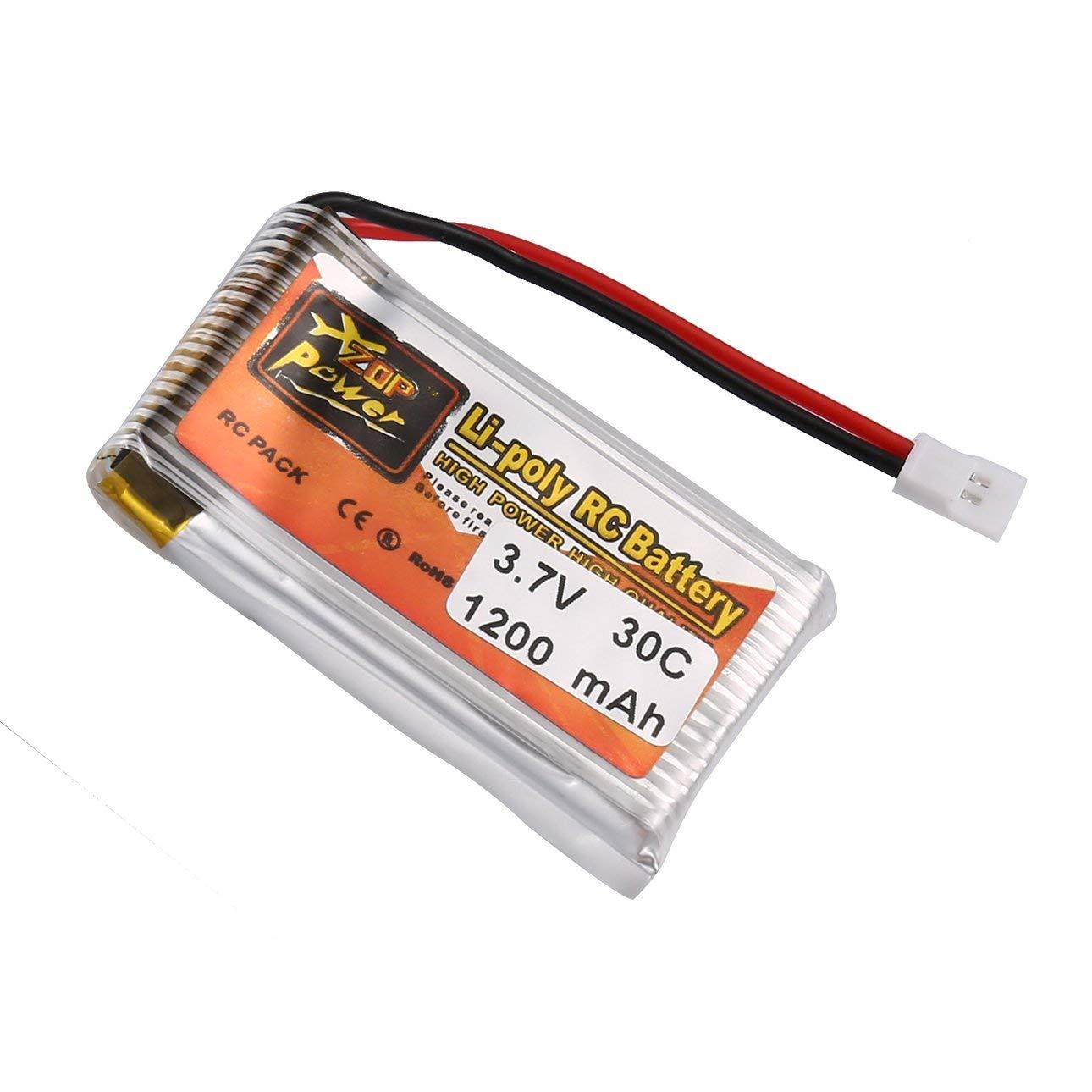 Ballylelly RC Lipo Battery 6 Piezas ZOP Power 3.7V 750mAh 30C 1S Lipo Bater/ía Recargable con 6 en 1 bater/ía USB Cargador para RC Racing Drone Helicopter Car