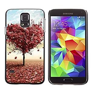 Paccase / SLIM PC / Aliminium Casa Carcasa Funda Case Cover - Tree LOVE - Samsung Galaxy S5 SM-G900