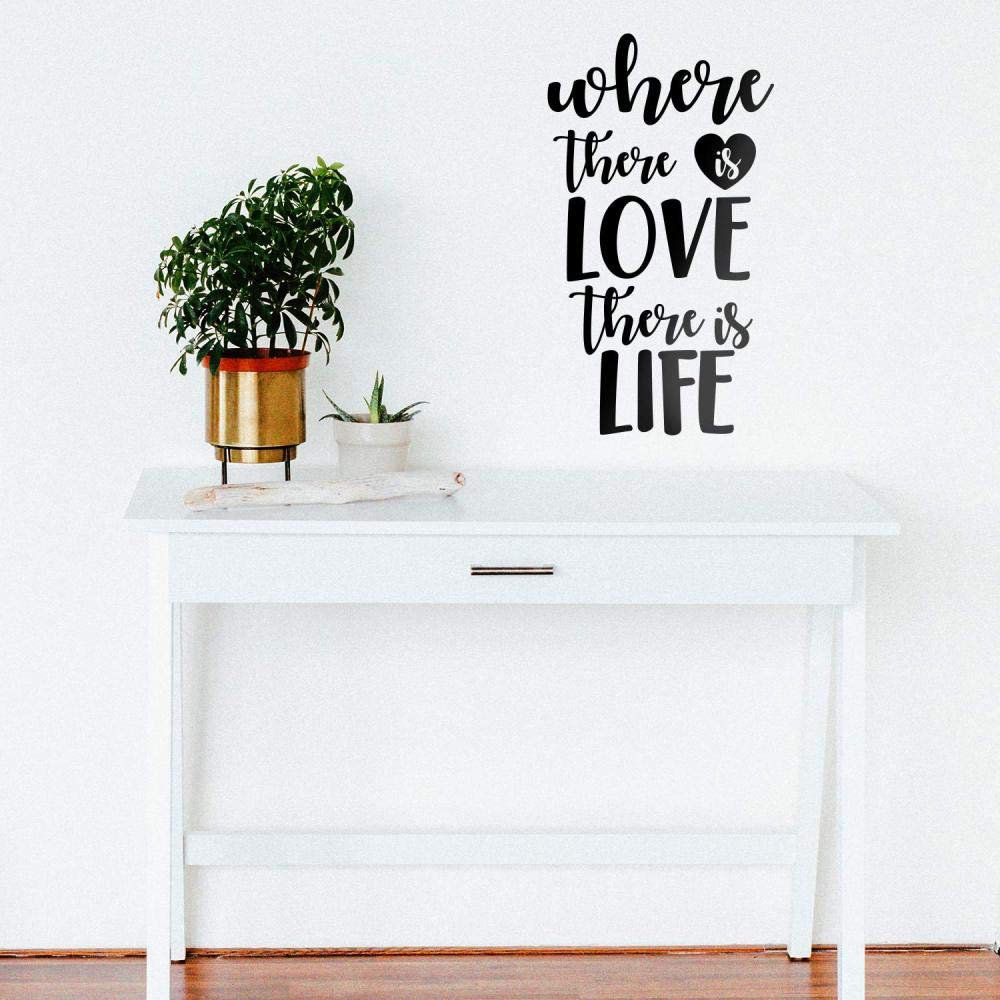 TYLPK Creativo Donde hay amor Hay vida Decoración para el hogar ...