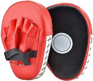 ATNKE 2 Pcs Boxing Pads Trainingshandschuhe PU Leder Punching Treten Palm Pad Haken & Jab Strike Pads Ziel Mitt Handschuh für Fokus Zug Von Karate/MMA/UFC