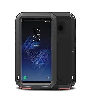Funda para Samsung Galaxy S8 , Love Mei marca aluminum silicone metal híbrido Carcasa,Cover, Funda para Samsung Galaxy S8 (Negro)