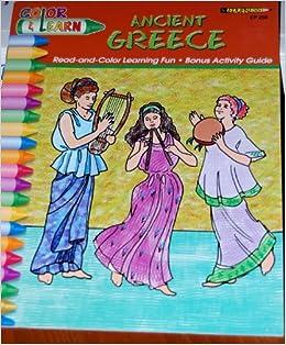 Ancient Greece Color And Learn Kathy Rogers Elizabeth Adams Antique Greece To Color
