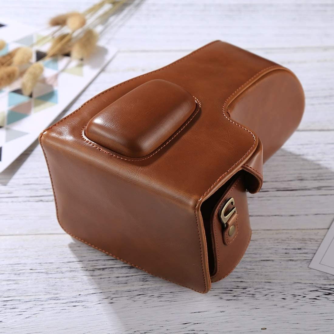 AQcameracell fit for Full Body Camera PU Leather Case Bag for Nikon D5300 // D5200 // D5100 Color : Brown 18-55mm // 18-105mm // 18-140mm Lens Black