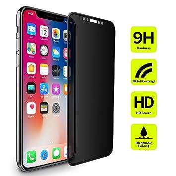 Protector Pantalla iPhone XS X Privacidad, BENKS Anti Espía Cristal Templado Cobertura Completa Dureza 9H
