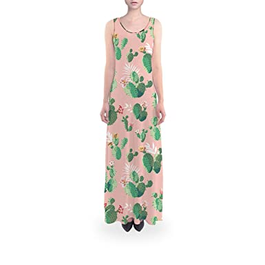 cb8b0766a4 Cactus in Bloom Flared Maxi Dress - XL Short at Amazon Women's ...