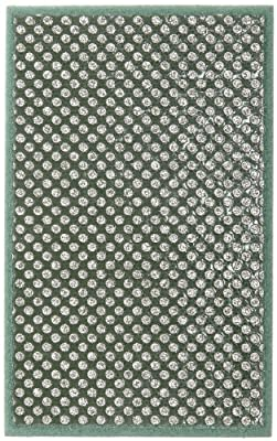 Norton HP60 Conventional Curved Nonwoven Abrasive Hand Pad, Green Color, Diamond, Grit 60 (Pack of 1)