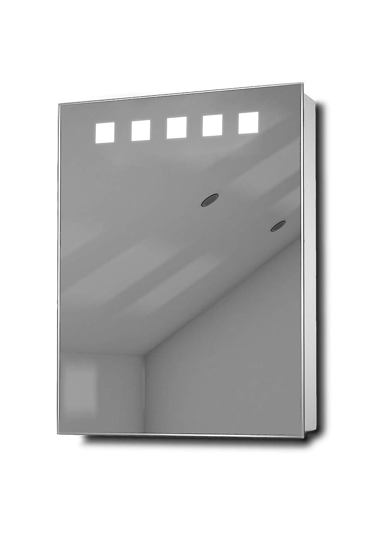 Deva LED照明ミラーバスルームミラーキャビネットwithセンサー&シェーバーk259aud   B01BSXD5ZE