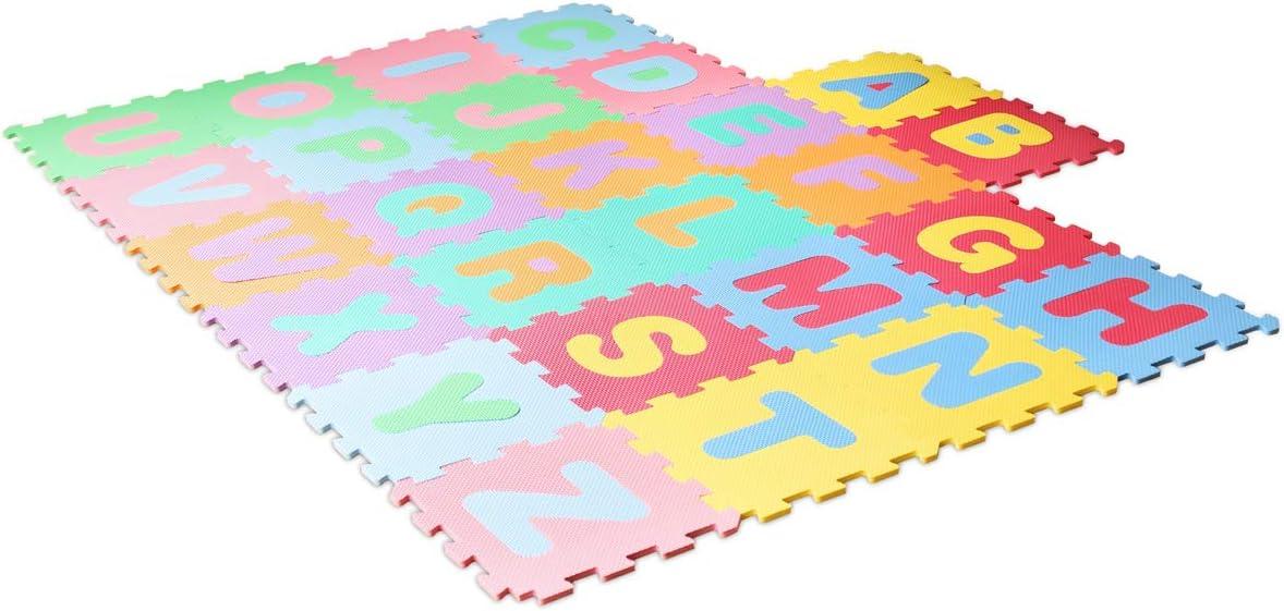 1300037 LEARNMAT Tappeto Quadrato con Lettere in Schiuma Eva Lalaloom